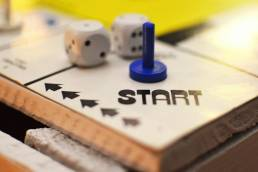 start point on a board game new career starting point